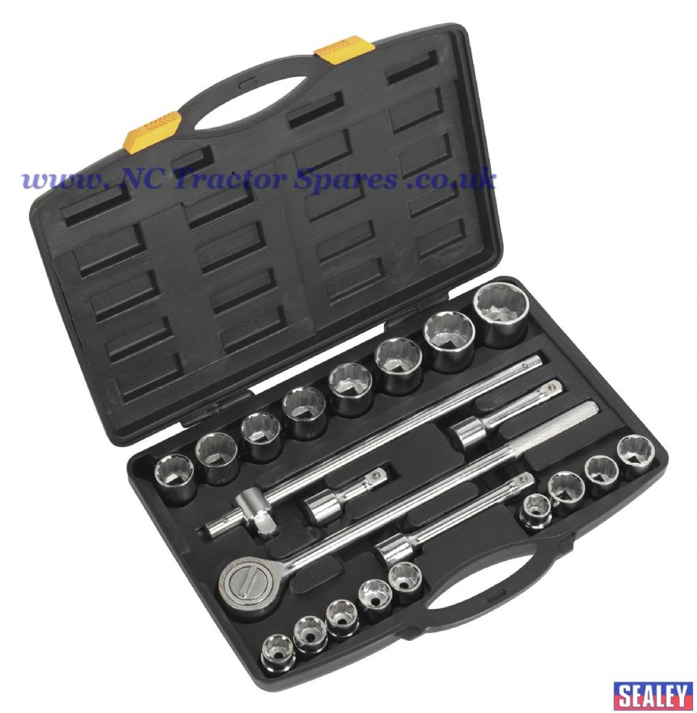"Socket Set 22pc 3/4""Sq Drive 12pt Metric"
